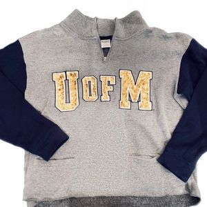 University of Michigan Pull Over Sweatshirt